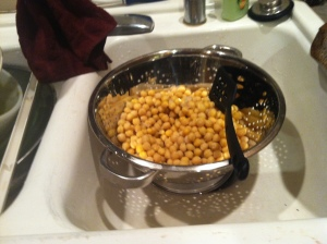 Rinsed Garbanzos